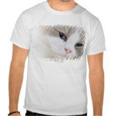 Ragdoll cat face t shirtsSeal Pointed Ragdoll Cat Tshirts  - Click to see more cat gift ideas: www.catthemedgifts.com ... #ragdollcats #catgiftideas #ragdolltshirts