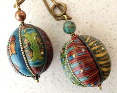 I might never be this good, but I would love to learn how to make beads like this from polymer clay... even if they just come out looking organic - jewelry by Sarah Shriver