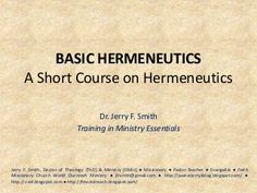 Basic Hermeneutics Lesson 1