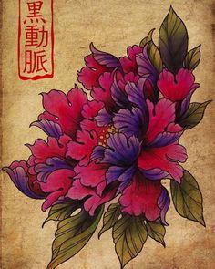 #drawing #print #peonies #pivoine #tattoo #frenchtattooartist #flowerstattoo #aquitaine #landes #peyrehorade #arterenoiretattoo