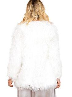 347a4e75ec302 Simplee Apparel Women's Long Sleeve Faux Fur Hair Coat Winter Warm Outwear  Jacket Thick Female Overcoat: Amazon.co.uk: Clothing