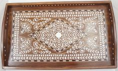 Handcrafted Wooden Tray 15 Inches X 8 Inches with Beautiful Acrylic Inlay Work - A Perfect Gift Item The Modish Store,http://www.amazon.com/dp/B00AP7VOI0/ref=cm_sw_r_pi_dp_dMbMsb1QJ52CYKZ9