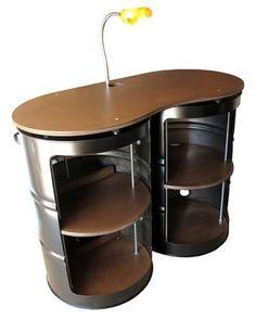 55 gallon drum steel cabinet.