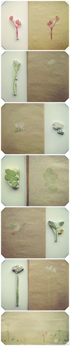 Lovely flower design stamps.