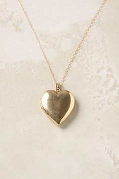 anthropologie gold heart locket // i've always wanted a locket. Gold Heart Locket, Heart Locket Necklace, Crystal Necklace, Silver Pendant Necklace, Jewelry Box, Jewelery, Jewelry Accessories, Fine Jewelry, Jewelry Necklaces