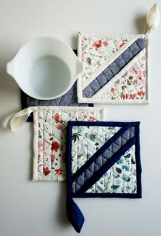 Molly's Sketchbook: Liberty HotPads - The Purl Bee - Knitting Crochet Sewing Embroidery Crafts Patterns and Ideas!