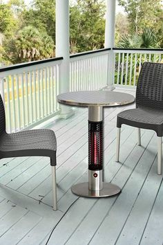 Outdoor Heating Ideas, Outdoor Heaters Patio, Outside Heaters, Gas Patio Heater, Small Outdoor Patios, Small Patio, Outdoor Rooms, Outdoor Living, Small Covered Patio