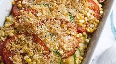 Tomato-Zucchini Bake | This super-quick-and-easy side or main dish puts leftover summer veggies to great use.