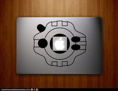 Izzy Would Be Proud - Digimon Digivice laptop stencil