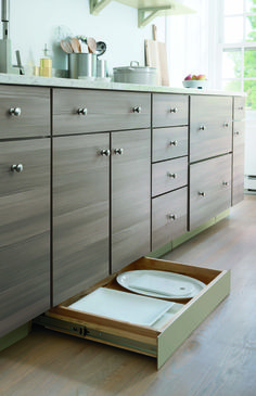 """Use every inch of your kitchen for storage! Be sure to attend one of The Home Depot """"Ask the Expert"""" events 9/20 through 9/22 to learn all about the Martha Stewart Living line."""