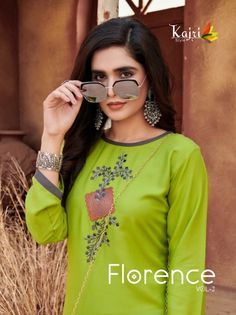 Florence, Kurtis Tops, New Launch, Different Styles, Mirrored Sunglasses, Graphic Sweatshirt, Textiles, Fancy, Embroidery