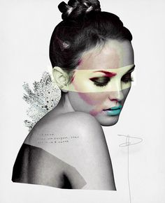 The collage work of Prince Lauder aka Carlos Guerrero, a very talented Mexican illustrator who uses mixed media to create beautiful drawings inspired mainly by fashion. MORE GRAPHIC DESIGN HERE [via] Beauty Illustration, Fashion Illustration Collage, Fashion Collage, Creative Illustration, Photo Illustration, Fashion Art, Trendy Fashion, Photography Illustration, Medical Illustration