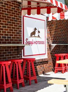 Seppy's Hotdogs exterior signage- Studio Nudge