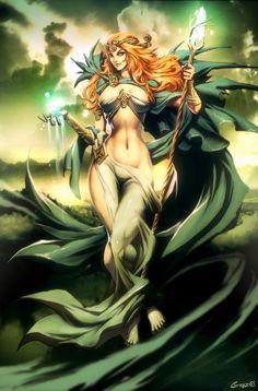 dana (danu) celtic mythology by GENZOMAN