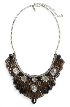 Main Image - Topshop Crystal & Bead Bib Necklace