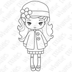 ⌘ WHIMSIE DOODLES ⌘ DIGITAL ⌘ ABBY GIRL ⌘ Kawaii Doodles, Cute Doodles, Quilling Patterns, Doll Patterns, Hand Embroidery Designs, Embroidery Patterns, Bird Applique, Applique Tutorial, Digi Stamps