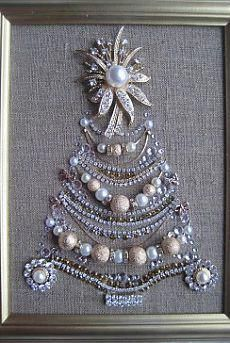 21 New Ideas For Jewerly Art Pictures Vintage Costumes Costume Jewelry Crafts, Vintage Jewelry Crafts, Antique Jewelry, Jewelry Frames, Jewelry Tree, Diy Jewelry, Beaded Jewelry, Silver Jewelry, Jewelry Making