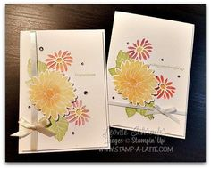 Good Afternoon! I have another card for you today from my Special Reason Class and I even have a video to show you how you can use your daubers for more colour in your stamping. Here's today's card …