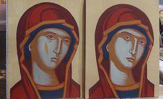Σπουδή στον κόπο των μαθητών Byzantine Icons, Byzantine Art, Religious Icons, Religious Art, Face Lightening, Russian Icons, Sacred Art, Three Dimensional, Virgin Mary