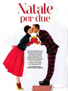 "The Terrier and Lobster: ""Christmas for Two"" by Stewart Shining for Vanity Fair Italy #50 December 19, 2012"