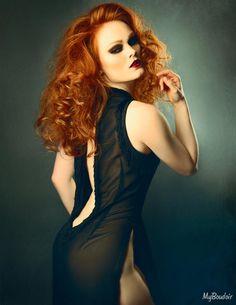 Photography- My Boudoir - Make-Over Boudoir Photography Mua- Michelle Sisson - Professional Hair & Make-up Artist Model- Gingerface Model Dress- Kiku Corset Boutique