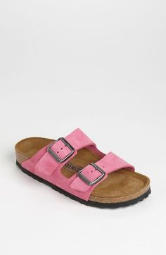 Birkenstock 'Arizona' Soft Footbed Suede Sandal (Women) available at #Nordstrom