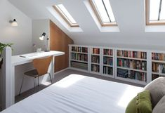57 Modern Small Bedroom Design Ideas For Home. It used to be very difficult to get a decent small bedroom design but the times have changed and with the way in which modern furniture and room design i. Loft Conversion Bedroom, Home, Attic Bedroom Small, Comfortable Bedroom, Bedroom Design, Loft Room, Small Rooms, Attic Bedroom Designs, Modern Style Bedroom