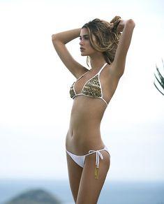 beach white bikini