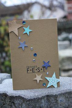 Polly kreativ: Kommt ein Vogel geflogen... - Weihnachtskarte SU