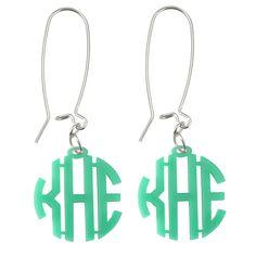 Acrylic Block Monogram Earrings