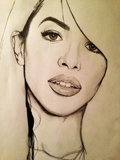 a drawing of the beautiful Aaliyah Dana Haughton