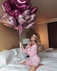 Happy Birthday Me, Birthday Bash, Girl Birthday, Cute Birthday Pictures, Birthday Photos, Purple Mini Dresses, White Mini Dress, Birthday Balloon Decorations, Birthday Balloons