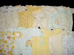 Newborn Baby Boy Sleepers | Used Baby Neutral Unisex Newborn Sleepwear Sleeper Boy or Girl Clothes ...