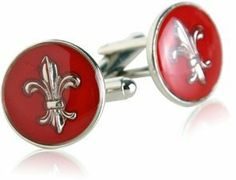 Fleur De Lis Cufflinks in Red by Cuff-Daddy Cuff-Daddy. $29.99. Arrives in hard-sided, presentation box suitable for gifting.. Proudly MADE IN THE USA. Made by Cuff-Daddy
