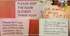 Hilarious Notes Posted in Public Comic Sans, Interesting News, The Funny, Fun Facts, Hilarious, Public, Notes, Writing, Amazing Facts