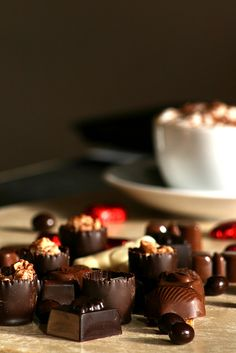 Coffee with chocolates by rutty