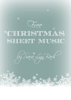 FREE CHRISTMAS SHEET MUSIC for all you music guru's out there! Hear the performances from a Christmas concert where many of these were performed at.