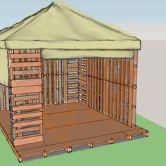 Wood pallet gazebo!  Hmmm next project?!?