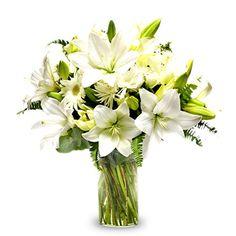Pure Emotionen: weiße Gerbera und Lilien