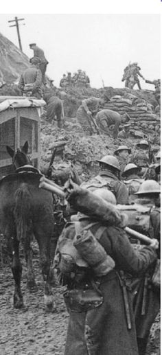 The British war machine rumbles forward towards the frontline prior to the first day of the Somme Offensive