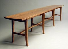 Studio Furniture, Bench Furniture, Furniture Design, Museum, Great Restaurants, Wood Crafts, Dining Bench, Woodworking, Wood Work