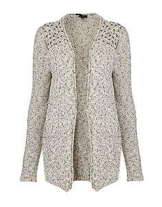 Knitted Stud Tweed Cardigan