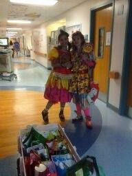 Wandy and Carmen in hospital patient cancer activity done