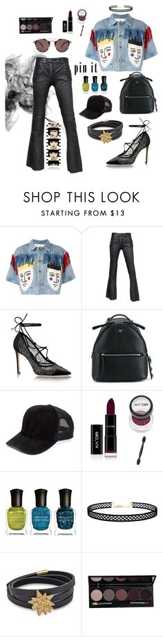 """pin it"" by janehappy ❤ liked on Polyvore featuring JC de Castelbajac, Alexander McQueen, Fendi, Deborah Lippmann, LULUS, Atelier Swarovski, Oliver Peoples and Anja"