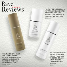 A couple of our favorite reviews! What is your favorite Alpha-H product and why? X