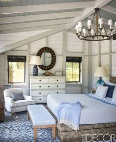 40 Awesome Beach Coastal Style Bedroom Decor Ideas - Page 6 of 40 Home Bedroom, Bedroom Furniture, Bedroom Decor, Bedroom Ideas, Bedroom Lighting, Airy Bedroom, Master Bedroom, Budget Bedroom, Decor Room