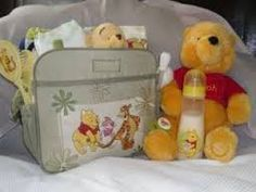 Winnie the pooh diaper bag and bottles