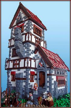 I love lego roofs- this is a good example.