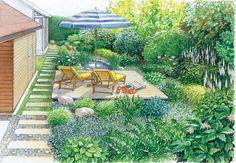 AuBergewohnlich In Dieser Gartenidee Betonen Wir Die Schattigen Bereiche Des Gartens