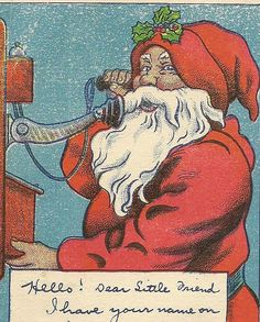 Letter from Santa  St Nick on Telephone to Good by TheOldBarnDoor